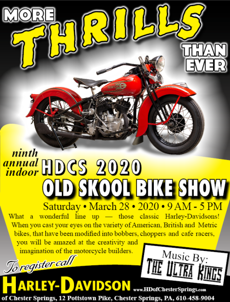 9th Annual HDCS Indoor Old Skool Motorcycle Show