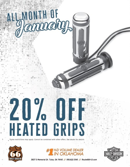 20% off Heated Grips!