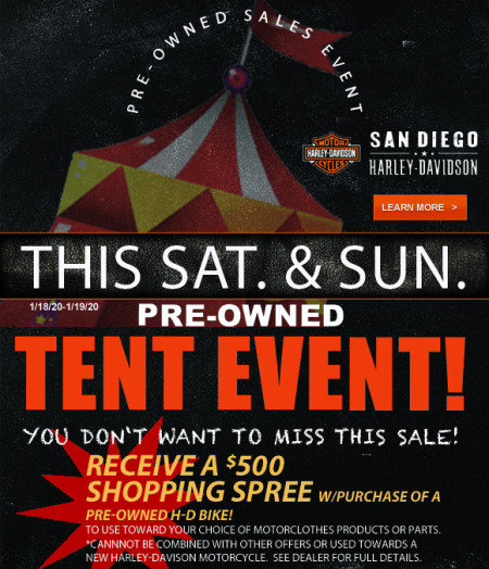 Pre-Owned Tent Event