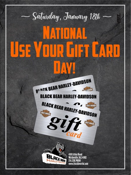 National USE YOUR GIFT CARD Day!