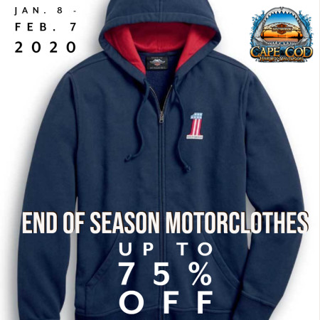 75% off End of Season Motorclothes