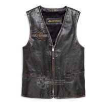 VEST-EAGLE,DISTRESSED,LTHR,BLK