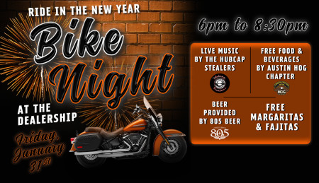 Ride in the New Year Bike Night!