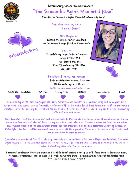 Samantha Agins Memorial Ride