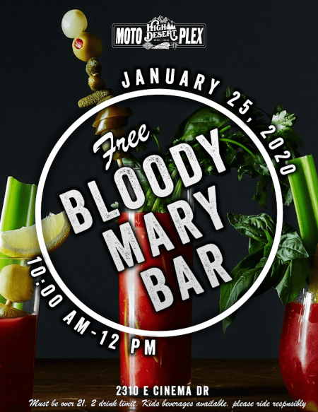 FREE BLOODY MARY BAR