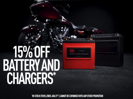 15% Off Battery & Chargers