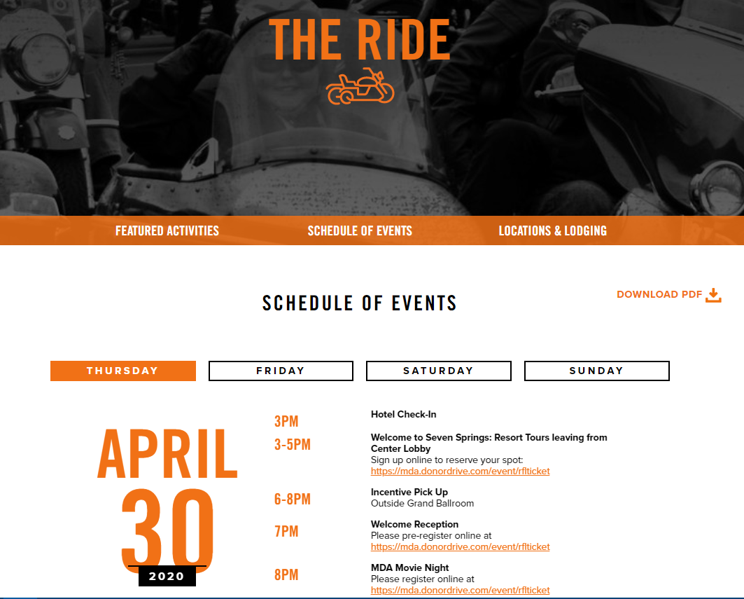 MDA Ride For Life 2020 Information And Event Schedule Brian's Harley-Davidson