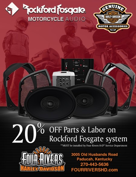 20% OFF Parts & Labor on Rockford Fosgate System