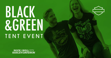 Black & Green Tent Event
