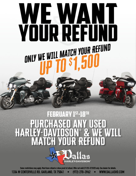 WE WILL MATCH YOUR REFUND UP TO $1500.00!