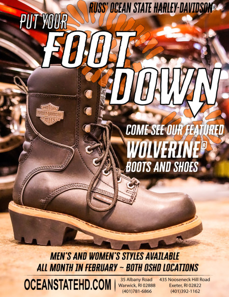 Put your Foot Down with H-D Wolverine Footwear.