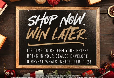 Shop now. Win later.