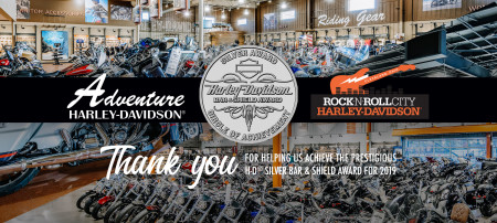 TWO Ohio Motorcycle Group Dealership Earn the Prestigious H-D® Silver Bar & Shield Award for 2019