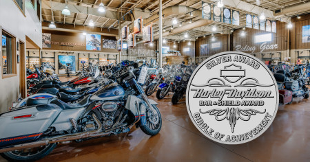 Adventure Harley-Davidson Awarded Silver Bar & Shield Award for 2019