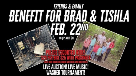 Ride and Benefit for Brad & Tishla - Housefire