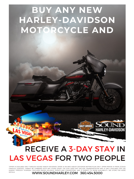 Buy any New Harley-Davidson and Receive a 3-day Stay in Vegas for TWO!