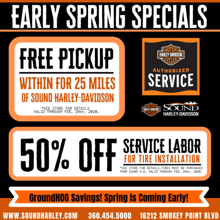 Early Spring Service Specials