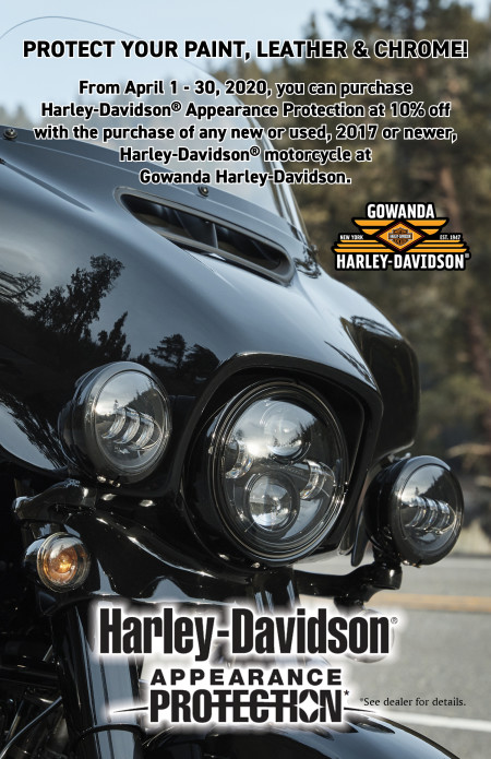10% OFF Harley-Davidson® Appearance Protection