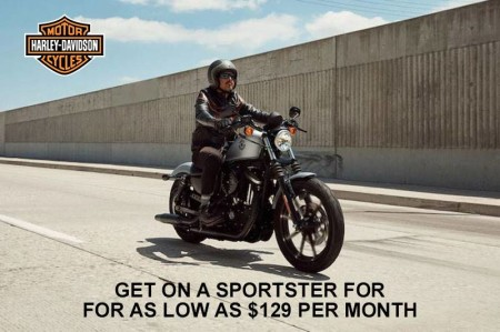 Harley-Davidson - Get on a Sportster for as Low as $129 per Month HARLEY-DAVIDSON - GET ON A SPORTS