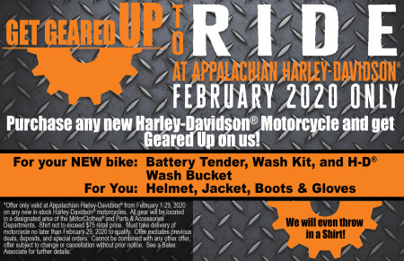 Get Geared Up To RIDE!