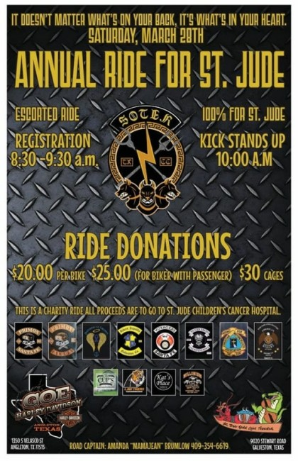 Annual St. Jude's Motorcycle Ride