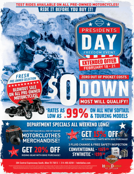 EXTENDED PRESIDENTS DAY FREEDOM EVENT!