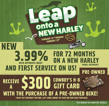 Leap onto a New Harley!