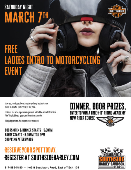Free Ladies Intro to Motorcycling Event