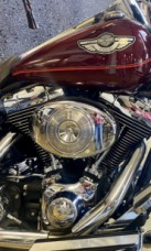 Rich Red 2003 Harley-Davidson Road King Classic FLHRC-I thumb 2