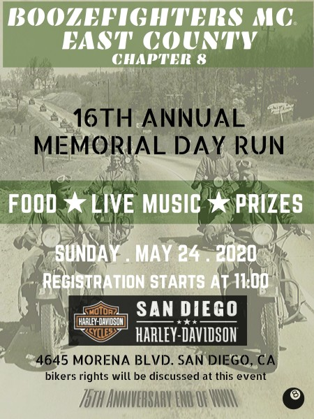 16th Annual Memorial Day Run!- POSTPONED NEW DATE TBA
