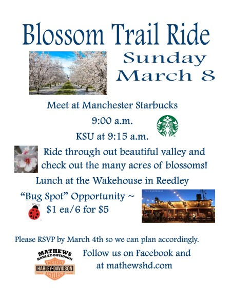 LADIES OF HARLEY BLOSSOM TRAIL RIDE