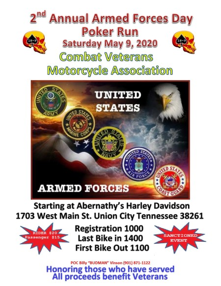 2nd Annual Armed Forces Day Poker Run