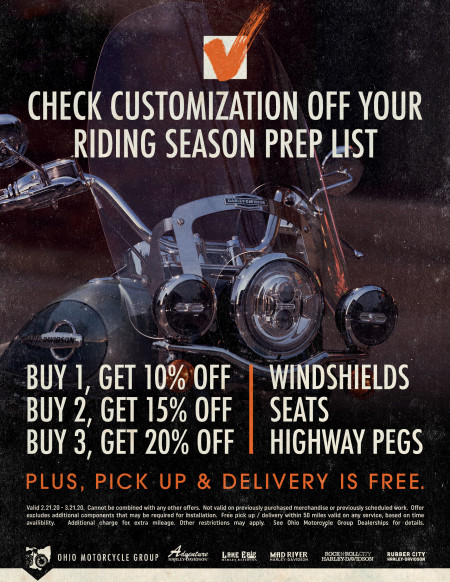Customization Offer at Ohio Motorcycle Group
