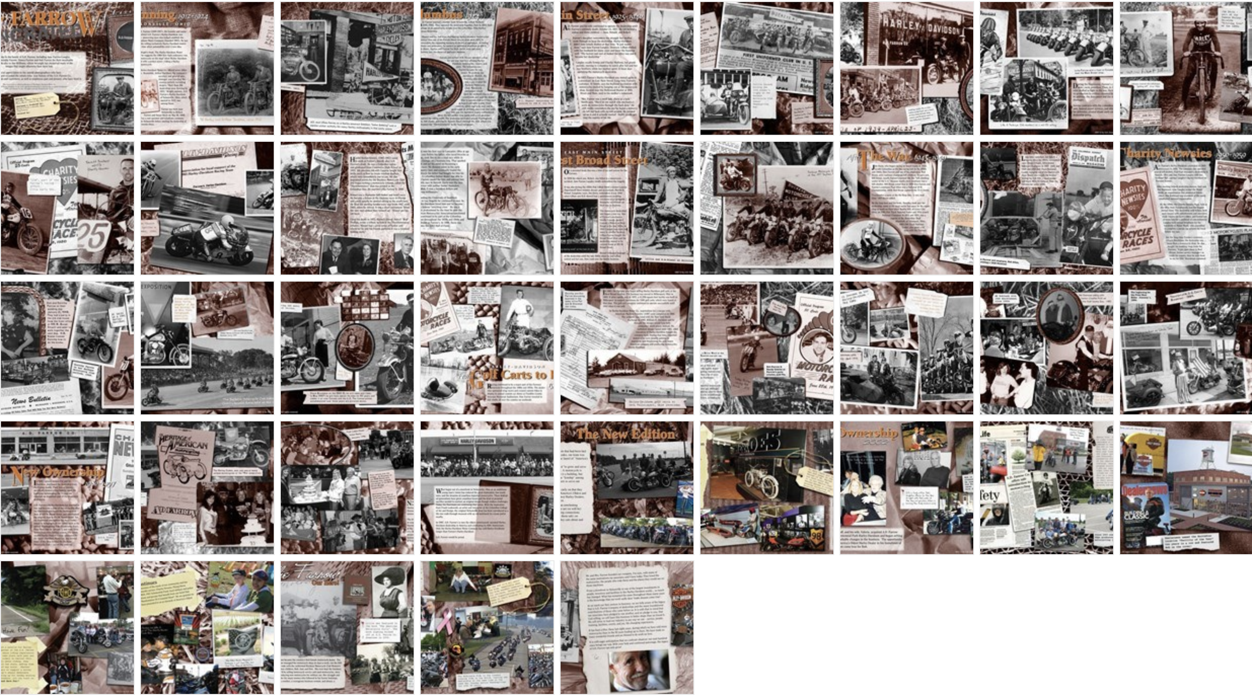 Pages of history at A.D. Farrow Co Harley-Davidson®