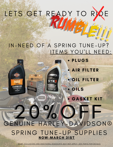 20% OFF SPRING TUNE-UP SUPPLIES