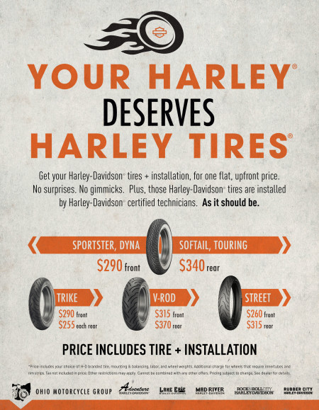 Ohio Motorcycle Group Tire Pricing