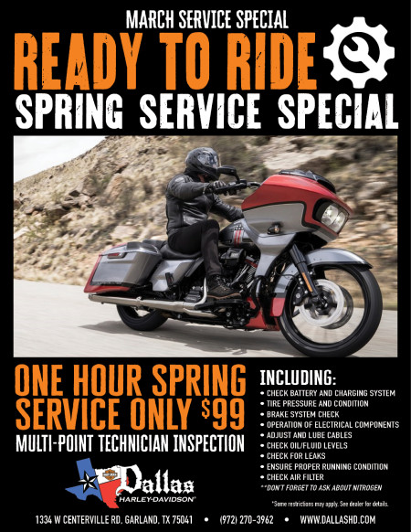 Service Ready To Ride March Special