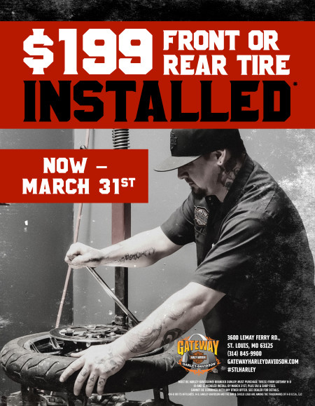 $199 for a Front or Rear Tire Installed*