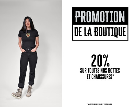 Promotion de la boutique - Mars 2020