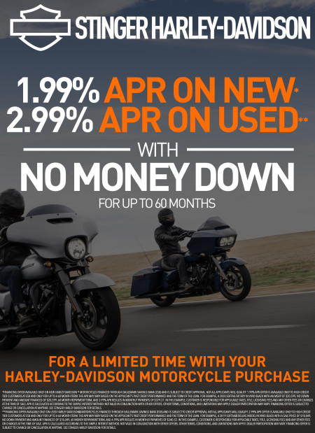 1.99% APR on new & 2.99% APR on used