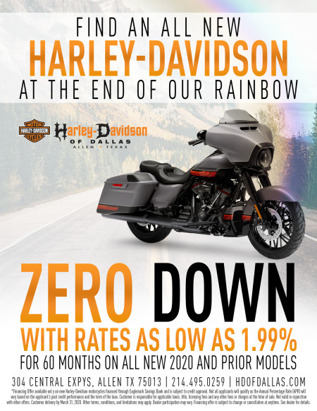ZERO DOWN WITH RATES AS LOW AS 1.99% UNTIL MARCH 31,2020!