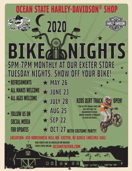 CANCELLED - Monthly Bike Nights in Exeter with Costume Party