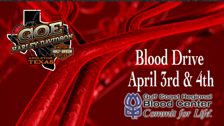 Blood Drive at Goe Harley-Davidson (April 3 and 4, 2020)