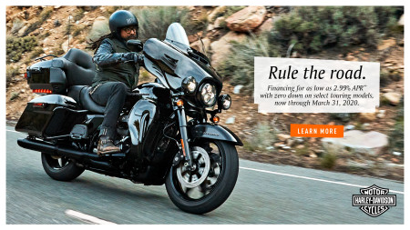 2.99% APR WITH $0 DOWN ON SELECT TOURING MODELS MARCH 16TH -31ST