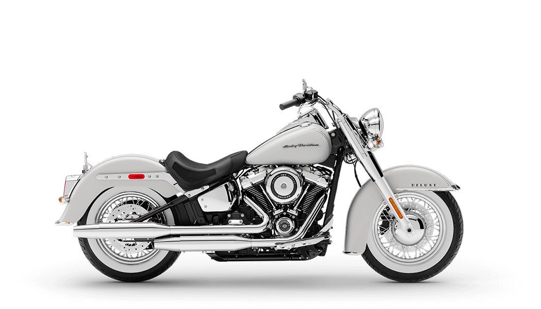 New 2020 Harley-Davidson® Softail Deluxe FLDE Stonewashed Pearl White For Sale