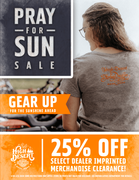 PRAY FOR SUN SALE
