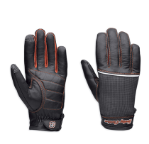 Cora Mesh & Leather Touchscreen-Compatible Gloves