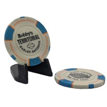 BTHD Poker Chip (Tan/Blue/Orange)