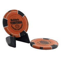 BTHD Poker Chip (Orange/Black/White)