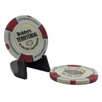 BTHD Poker Chip (White/Red/Blue)
